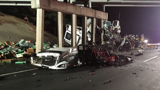 Fatigue a factor in I-95 crash that ripped apart truck