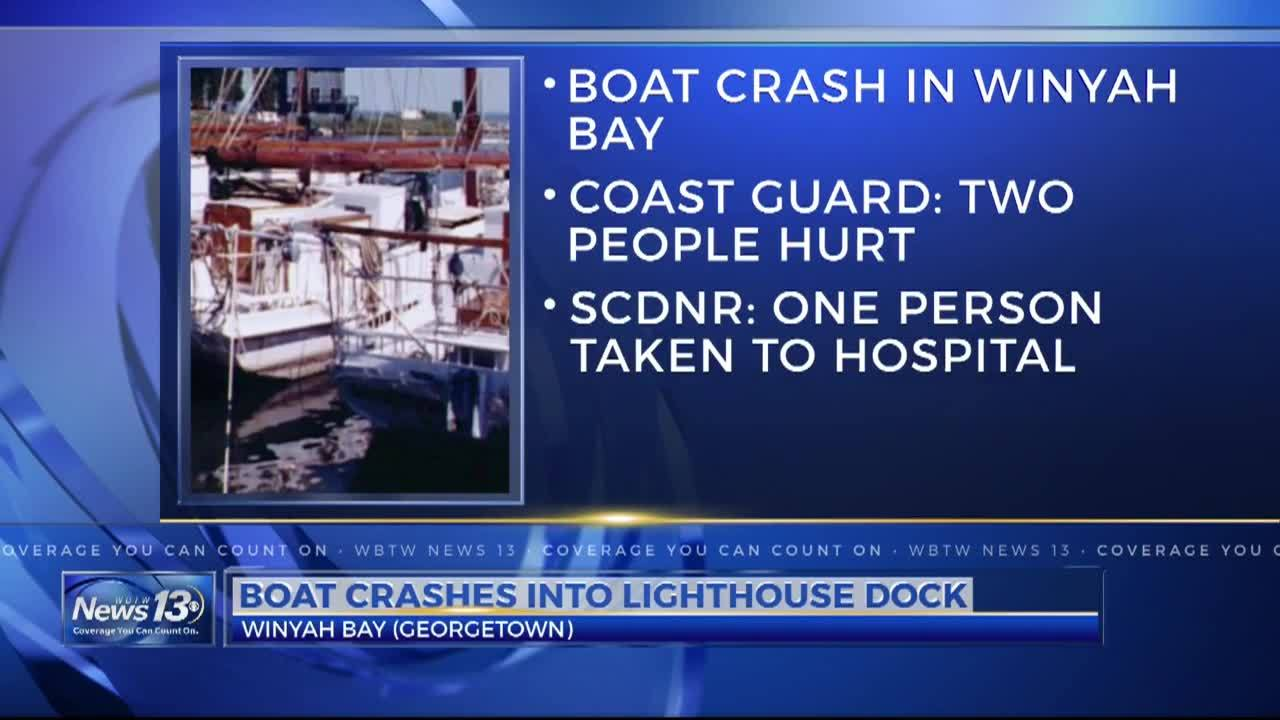 DNR investigates after boat crashes into the Georgetown light house dock