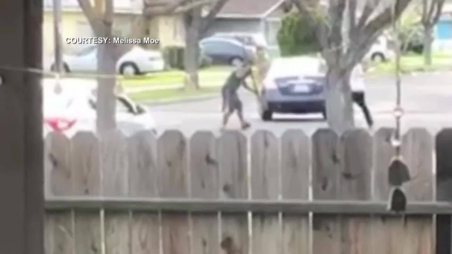 Brutal street fight was caught on camera in California