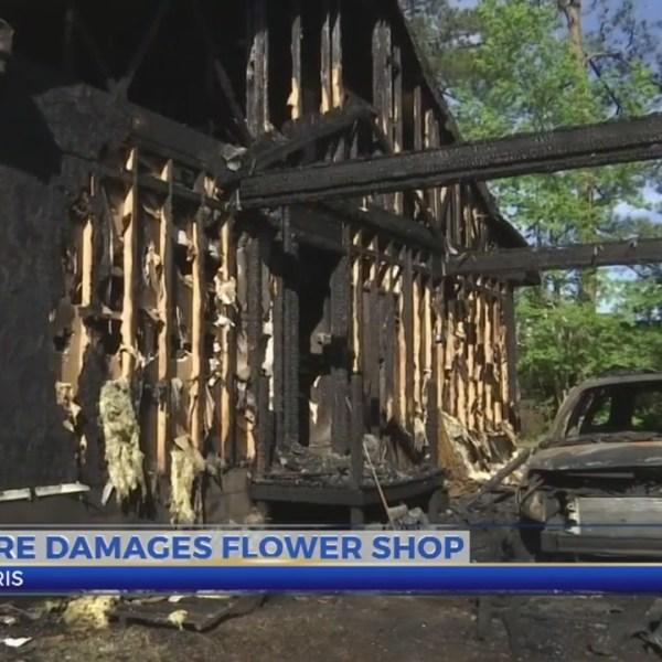 Fire damages Loris flower shop