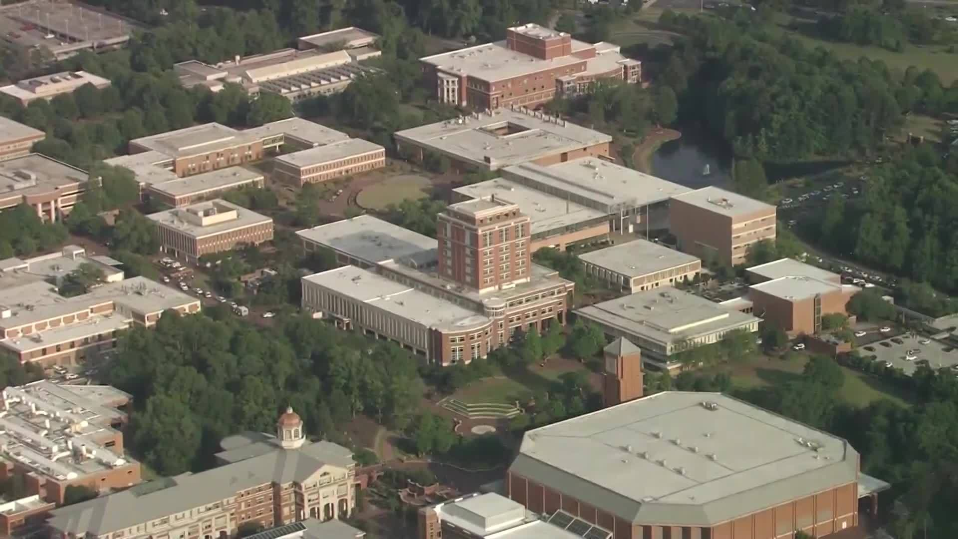 UNCC shots fired report (courtesy: WBTV via CBS Newspath)