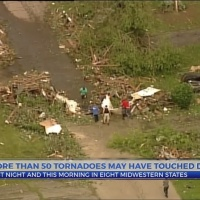 More than 50 tornadoes may have touched down last night and this morning in 8 midwestern states