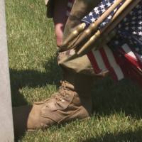 Soldiers place flags at every tombstone at Arlington ahead of Memorial Day