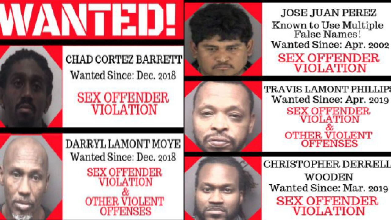 pee dee most wanted sex offenders in Victorville