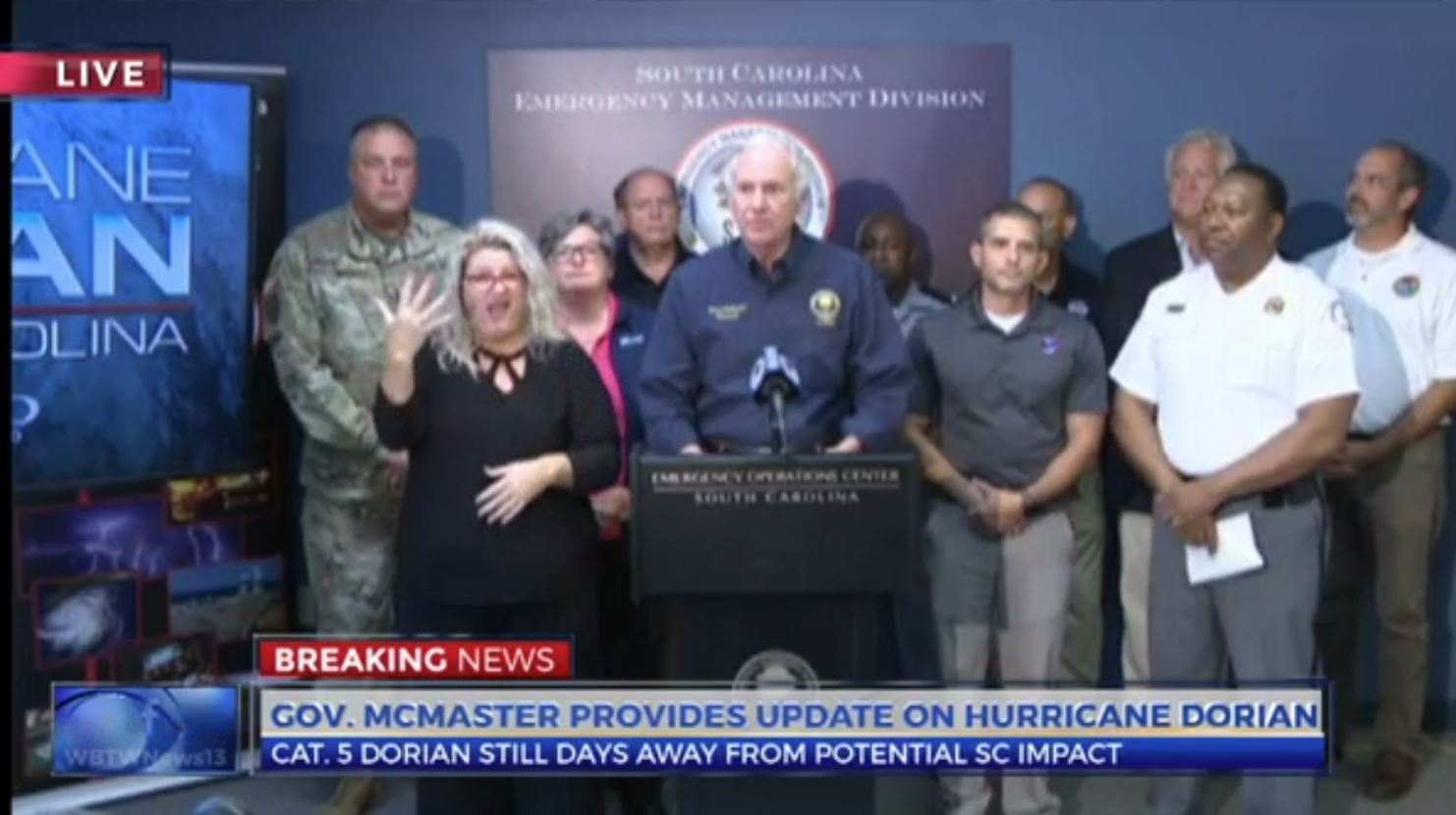 Governor McMaster outlines preparations for Hurricane Dorian