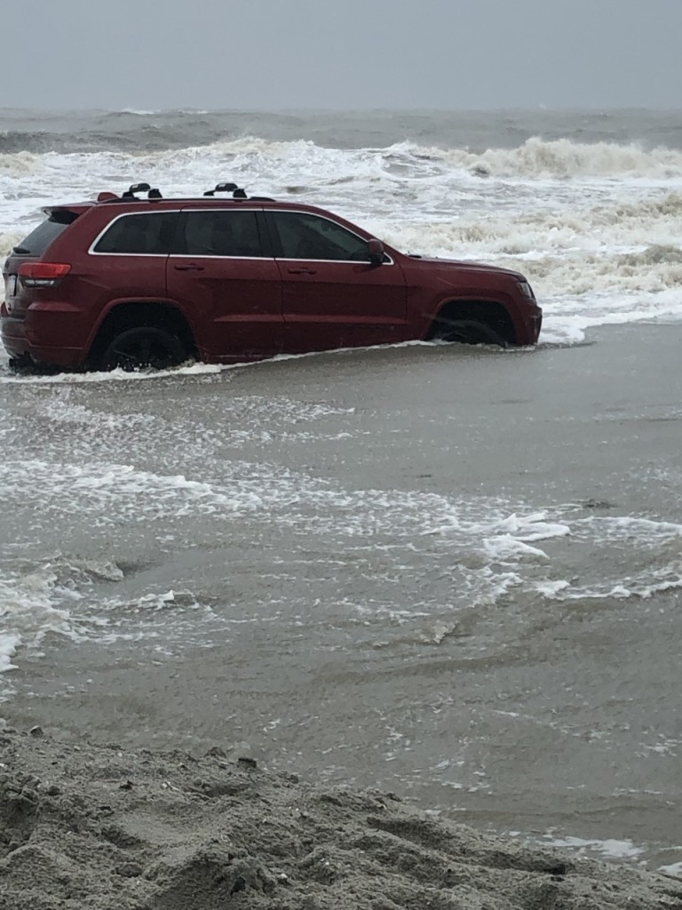 Video: 'Famous' Red Jeep Pulled From Myrtle Beach Ocean