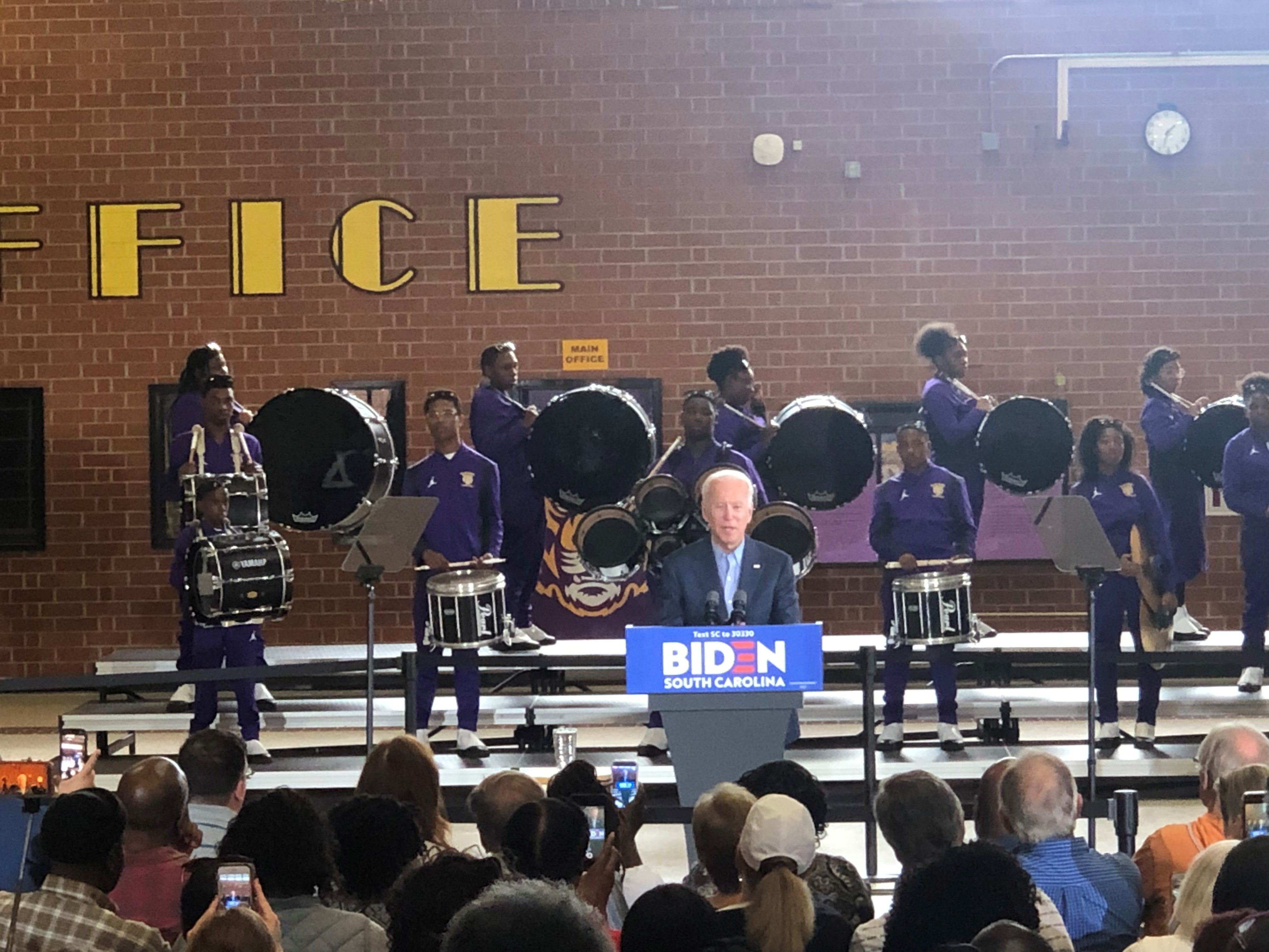 Image result for Dozens gather at Wilson High in Florence as former VP Joe Biden hosts town hall