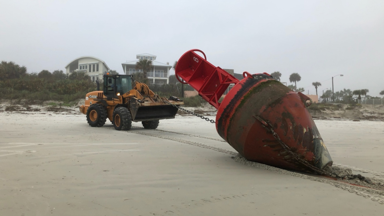Buoy from South Carolina displaced by Hurricane Dorian washes ashore in Florida 1