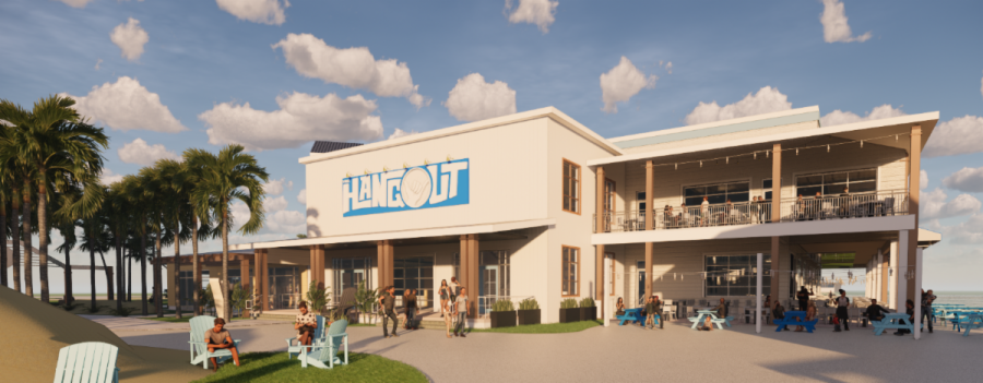 """Rendering of """"The Hangout"""" business, which is set to open at Broadway at the Beach in """"late 2020."""" Photo courtesy: LHWH Advertising and PR."""