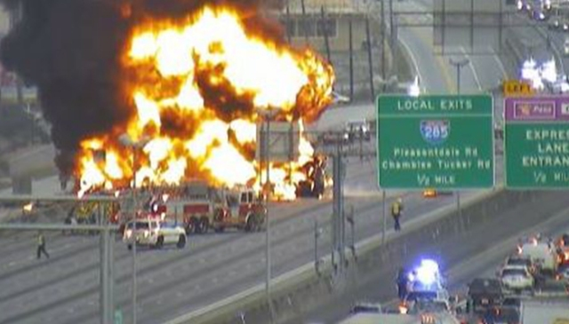 One dead after fiery crash on I-85 in Georgia Saturday morning