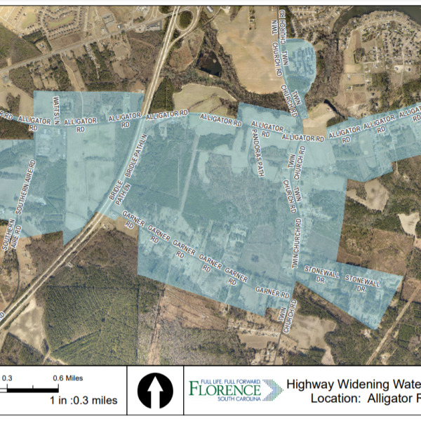 Part of Florence County under boil water advisory due to road expansion