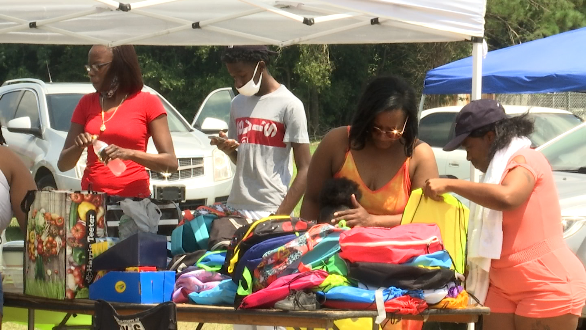Darlington residents rally against violence, donate school supplies