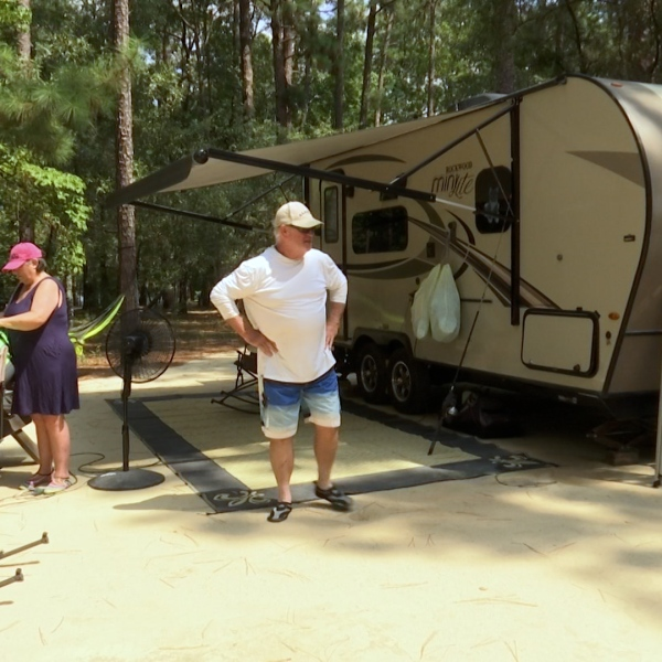 Campers celebrate Labor Day at Little Pee Dee State Park