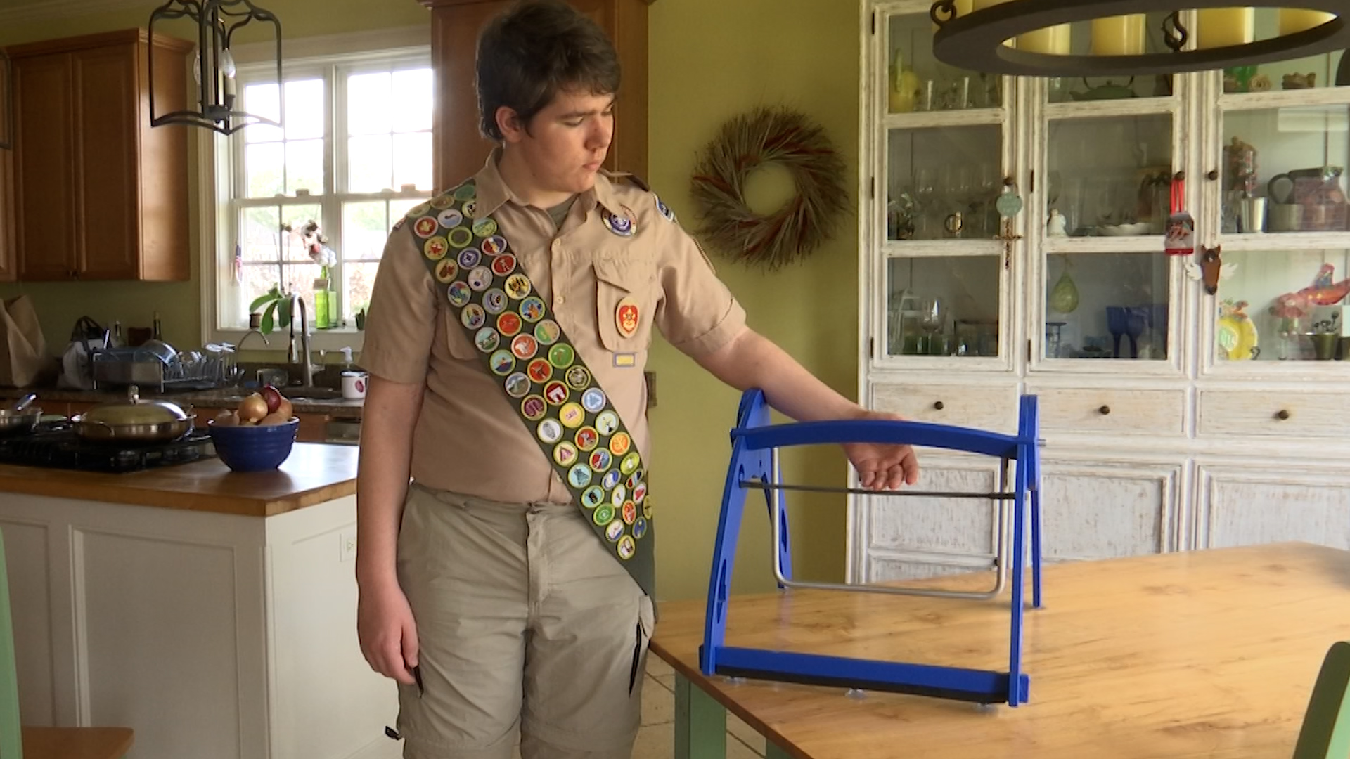 Boy scout's service project aims to help students with sensory issues